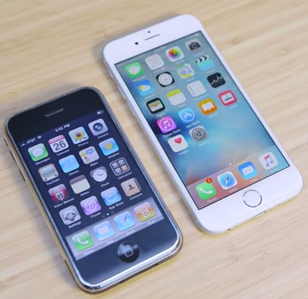 Un comparatif entre l'iPhone 1 et l'iPhone 6S pour mesurer le chemin parcouru