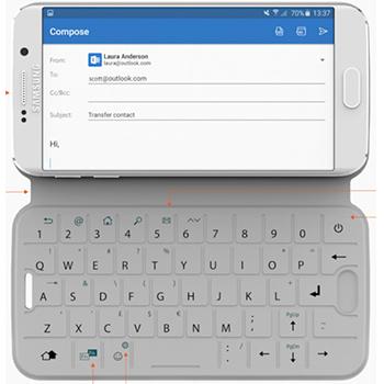 Galaxy S6 une coque de protection qui fait clavier!